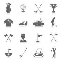 Golf ikoner uppsättning
