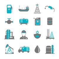 Ölindustrie Icons vektor