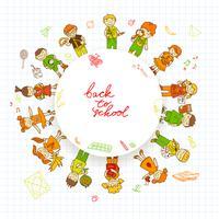 Round banner med barn
