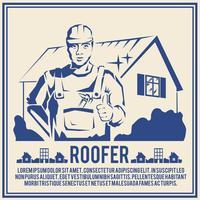 Roofer silhouette affischaffisch