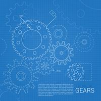 Gears, die Hintergrund zeichnen vektor