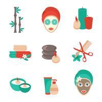 Spa ikoner uppsättning