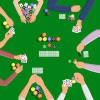 Människor som spelar i poker vektor