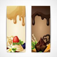Schokoladenfahnen vertikal