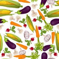 Grönsaker realistiska sömlösa mönster