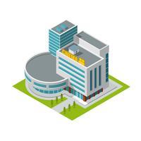 Biografbyggnad isometrisk