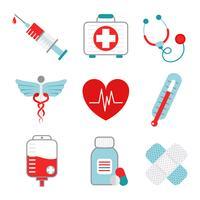 Medicin ikoner uppsättning vektor