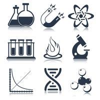 Fysik vetenskap ikoner