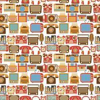 Vintage gadget sömlöst mönster