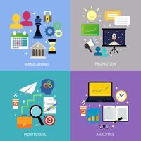 Business steg koncept platt