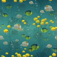 Fisch nahtlose Muster vektor
