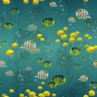 Fisk sömlösa mönster