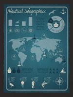 Nautische Infografik-Set vektor