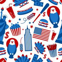 New York USA sömlöst mönster