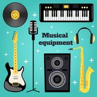 Musikausrüstung eingestellt