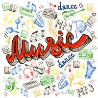 Musikfarbe Hintergrund