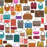 Väskor färgat sömlöst mönster