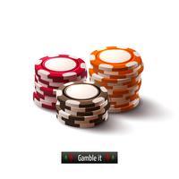 Casino chips isolerade
