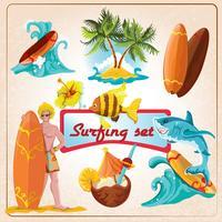 Surfing element set