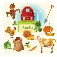 Farm dekorativa uppsättning