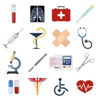 Medizinische Symbole festgelegt vektor