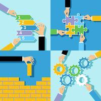 Business händer begreppsuppsättning vektor