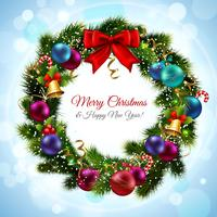 Weihnachtskranz Postkarte