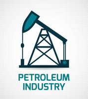 Poster zur Ölindustrie vektor