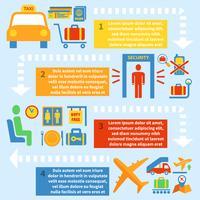 Flygplats infografisk uppsättning