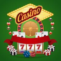 Casino-element som är inställda vektor