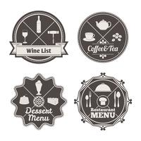Restaurantmenüetiketten vektor