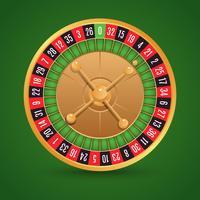 Realistisk roulette isolerad