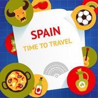 Spanien bakgrundsmall vektor