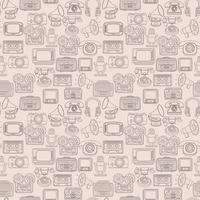 Retro media sömlöst mönster