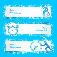 Zeitmanagement Set Banner Skizze