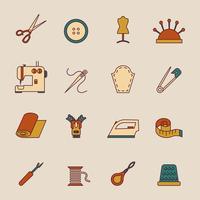 Nähzeug-Icons Set