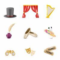Theater realistische Symbole