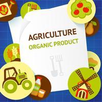 Jordbruksbakgrundsmall
