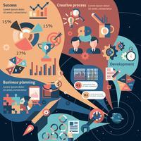 Kreativt infografiskt set