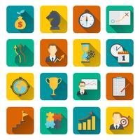 Geschäftsstrategie-Planungsikone flach