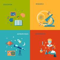 Vetenskap och forskning platt vektor