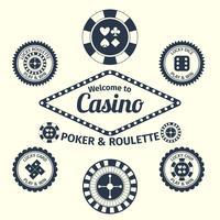 casino emblem set vektor