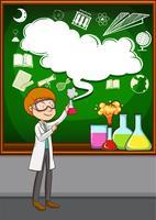 Wissenschaftler, der Experiment im Labor durchführt vektor