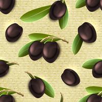 Olive sömlöst mönster