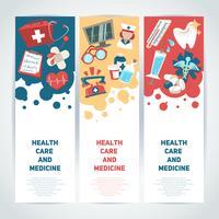 Medicinska vertikala banderoller vektor