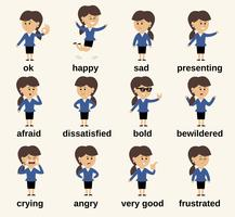 Business-Frau Charakter Gefühle