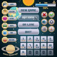 Weltraumspiel-Interface-Design