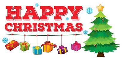Jul tema med träd och ornament