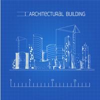 Arkitektonisk byggnadsblåkopi