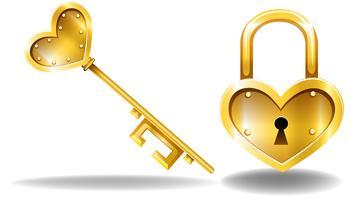 Schlüssel und Schloss vektor